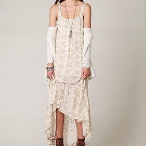 🍁Free People Love Birds Maxi High Low w/Slip